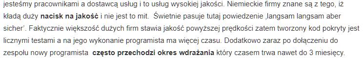 Cytat fragmentu artykułu ze strony jeden-it.eu